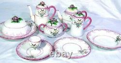 11pc English Crown Staffordshire Breakfast Set Tea Coffee Pot Pancake Server