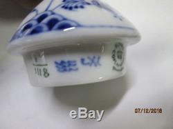 15 Pc Royal Copenhagen Blue Fluted Tea Set Gargoyle Teapot Svc for 6 Cream Sugar