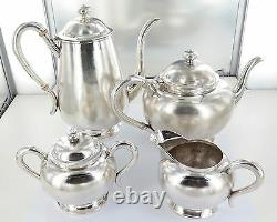 1696g STUNNING RARE CHINESE TIENTSIN STERLING SILVER EXPORT WARE TEA SET