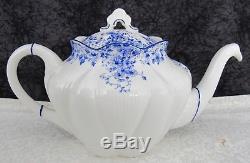(17) Pc. Vintage Shelley English Bone China Dainty Blue Tea Set with Large Teapot