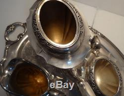 1847 Rogers Bros ETERNALLY YOURS International Silver Plate Coffee Pot Tea Set
