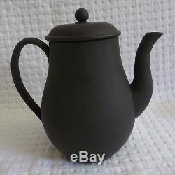 18 pc. WEDGWOOD Black BASALT DEMITASSE Set Coffee Espresso Tea pot Cup Saucer
