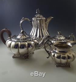 1930\'s Community -oneida Silver Plate, Melon Tea/coffee Set, Teapot ...