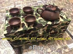 2019 A Bathing Ape Bape Limited Edition Chinese Tea Set Green Camo Box Teapots