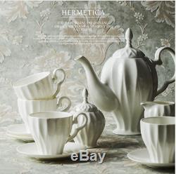 21 Pieces Royal English China Set Bone China Tea Kettle Teapot & Saucers