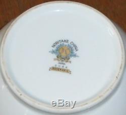 24pc Noritake China 6044 Rosemarie Luncheon Coffee Tea Set w Pot, Cups, Plates +