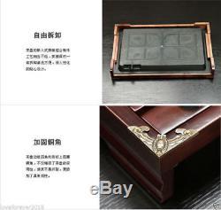 26pcs yixing zisha tea set in chinese solid wood tea table pot of tea cup teapet