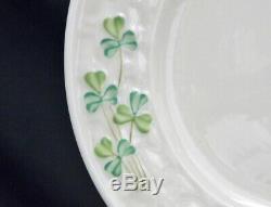27 Pc. Vintage BELLEEK Pottery (Ireland) Shamrock Tea Set Teapot Plates