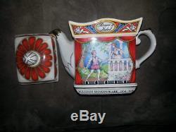 3 Vintage James Sadler William Shakespeare Midsummer Night Dream Teapots