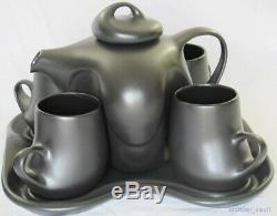 4 Person Peter Saenger Teapot Set Black Design with Sugar Creamer Star Trek TNG