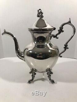 6 Piece Silver Tea Coffee Set Birmingham Coffee Urn Tea Pot Creamer Sugar