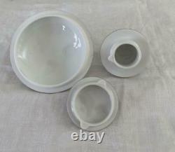 7 Pcs Herend Rothschild Bird Set Indiv Teapot Coffee Pot Sugar Bowl +Lid Creamer