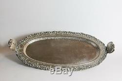 800 solid silver tea set Djokja Yogya tray tea pot sugar bowl Indonesian C. 1940
