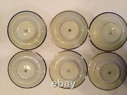 9pc Set Hertel Jacob Bavaria Germany Silver Overlay on Porcelain Tea Service