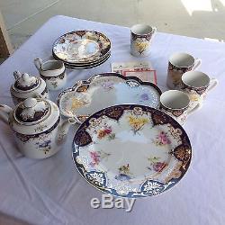 Andrea By Sadek Biltmore Estate China Cobalt Floral Cake Plate Mugs Plates & Andrea By Sadek Biltmore Estate China Cobalt Floral Cake Plate Mugs ...