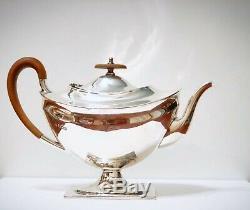 ANTIQUE 925 STERLING SILVER TEA SET Teapot, Sugar Bowl & Creamer SHEFFIELD