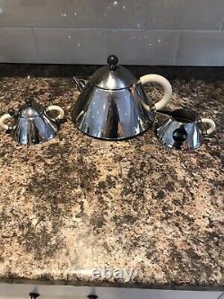 Alessi Tea Set Tea Pot Suger. And Milk