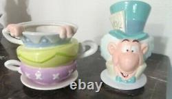 Alice in Wonderland Tea Pot Canister Set of 4-Rare