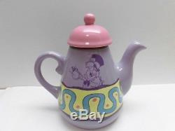 Alice in wonderland Tea Pot Mug Cup pair Set Tokyo Disney Resort LTD