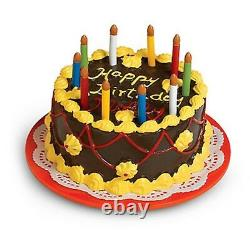 American Girl Molly Birthday Party Set Treats Cake Tea Pot China Cups NIB NRFB