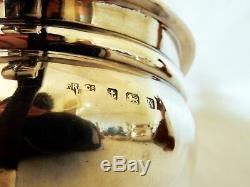 Antique Art Deco 1937 Sterling Silver Teaset Tea Set Teapot Pot Sugar Milk
