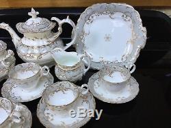 Antique Coalport Tea Set Rococo Regence John Rose Duck Neck Teapot