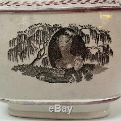 Antique Commemorative Teapot Princess Charlotte c1817 Lustreware Sunderland
