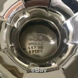 Antique Gorham Sterling Silver Teapot Creamer Sugar Bowl 4 Pc Tea Set c1907