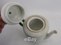 Antique Hackefors Sweden Children's Tea Set Teapot Sugar Creamer Cups & Saucers