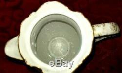 Antique Limoges Delinieres France D & C Porcelain Chocolate Pot, Coffee Pot Tea