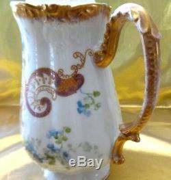 Antique Limoges France Ls &s (straus Luis & Son) Porcelain Chocolate Pot