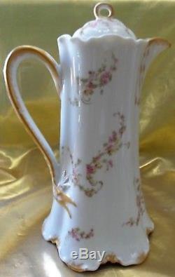 Antique Limoges Havaland & Co Chocolate Pot, Coffee Pot, Teapot Gild