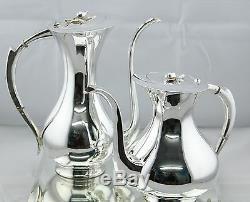 Antique Modernist Emil Hermann Sterling SIlver 925 Coffee & Teapot Set