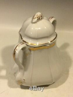 Antique Old Paris French Porcelain Tea Set Tray, 2 Teapots, Sugar, Creamer