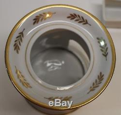 Antique Old Paris French Porcelain Veilleuse Teapot Warmer Set, Nice Shape