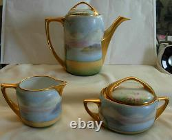 Antique Pickard Chicago IL Tea / Coffee Set Hand Painted By Gasper 1910-1918