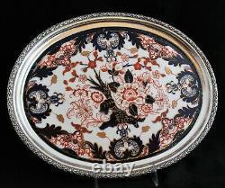 Antique Royal Crown Derby King Imari 19th C. TEAPOT SUGAR BOWL CREAMER TRAY SET