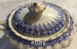 Antique SELTMANN China BLAU DEUTSCHLAND Bavaria Coffee Tea Pot Cream Sugar set