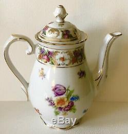 Antique Schumann Dresden Line EMPRESS Porcelain Mini 2C TEAPOT Creamer Sugar SET