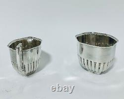 Antique Solid Sterling Silver Bachelors Tea Set Teapot Sugar Bowl Milk Jug 1915