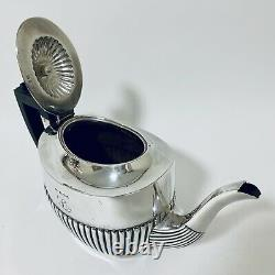 Antique Solid Sterling Silver Tea Set Service Teapot Sugar Bowl Milk Jug 1905