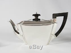 Antique Victorian 1895 Sterling Silver Bachelors Tea Set Teapot Sugar Bowl Jug