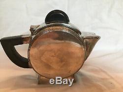 Antique Vintage Art Deco Round Silver Plate Creamer Small Teapot Christofle
