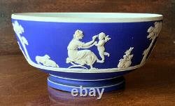 Antique Wedgwood Jasperware 1830's Tea Set Lady Templetown Teapot Rare Form Blue