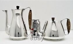 Anton Michelsen Danish Sterling Silver Mid-Century Modern Tea & Coffee Pot Set