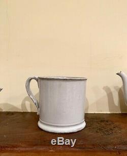 Astier de Villatte teapot set (mug, teapot, milk saucer) NEW with tags