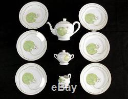 Authentic Hermes'tea Pot','sugar Pot''milk Pitcher''6 Plates