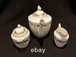 Aynsley Kent 8170 Tea Set Teapot Sugar Bowl and Lid and Creamer Gold PRETTY