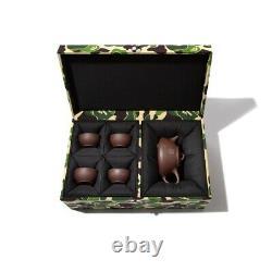 BAPE A BATHING APE Limited Edition Chinese Tea Pot Set with Green Camo Box