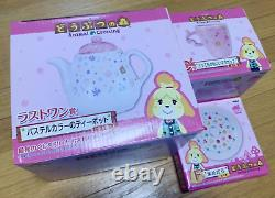 Banpresto Ichiban Kuji Animal Crossing Tea Pot Teapot, Plate, Mug Set With Box